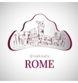 Rome city emblem vector image