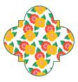 seamless pattern label spring decoration floral vector image