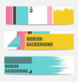 set of banners with modern geometric background vector image