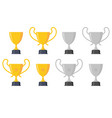 set trophy award vector image