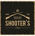 sharpshooters store abstract vintage label or logo vector image vector image