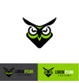 simple owl logo design element template vector image vector image