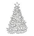 sketch of christmas tree vector image