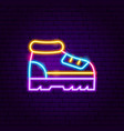 sneakers neon label vector image