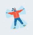 snow angel man vector image vector image