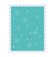 snow snowflakes background celebration merry vector image vector image