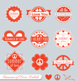 summer love labels vector image vector image