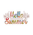 summer sale original drawing background vector image vector image