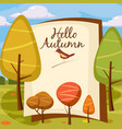 template design autumn poster brochures posters vector image vector image
