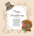 thanksgiving day letter template vector image