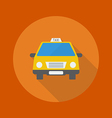 Travel Flat Icon Taxi vector image vector image