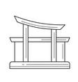 travel landmark line icon vector image