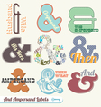 Vintage Retro Ampersand Labels vector image