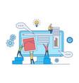 web design development concept - web designers vector image vector image
