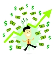 Man Making Profit in Business vector image