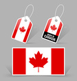 Canadian flag and tags vector image