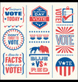 patriotic design elements for voting vector image