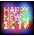 2018 happy new year holiday calendar background vector image