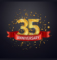 35 years anniversary logo template on dark vector image vector image