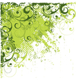 angled green abstract vector image vector image