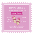 Baby Girl Shower or Arrival Card vector image vector image