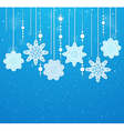 Background with beads and snowflakes vector image vector image