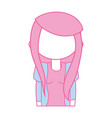 beauty girl with clothes and hairstyle design vector image vector image