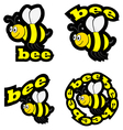 Bee icons vector image