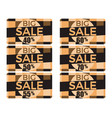 big sale set of gift cards at a discount shopping vector image vector image