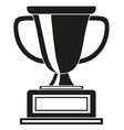 black and white goblet award silhouette vector image