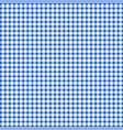 blue gingham pattern background vector image vector image