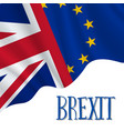 brexit waving flags concept vector image