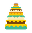 cake big great pie food birthday festive meat vector image