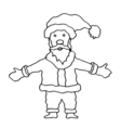 Cartoon Santa Clause vector image