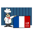 Chef of french cuisine vector image vector image