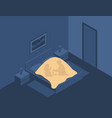 children play games under covers at night in vector image
