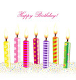 Color Candle With Cream vector image