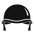 combat helmet icon simple style vector image vector image