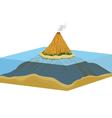 Coral island vector image vector image
