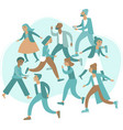 crowd stressed people vector image vector image