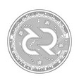 crypto currency decred black and white symbol vector image