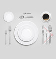cutlery on table design vector image vector image