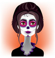 day of the dead katrina 4 vector image