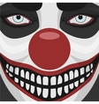 evil clown smiling face vector image