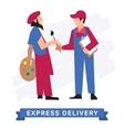 Express Delivery Symbols icon vector image