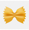 farfalle pasta icon realistic style vector image vector image