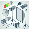 flash studio professional strobe element set vector image vector image