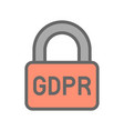 Gdpr general data protection regulation icon