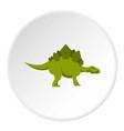 green stegosaurus dinosaur icon circle vector image vector image