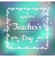 Greeting card for Happy Teachers Day Abstract vector image vector image